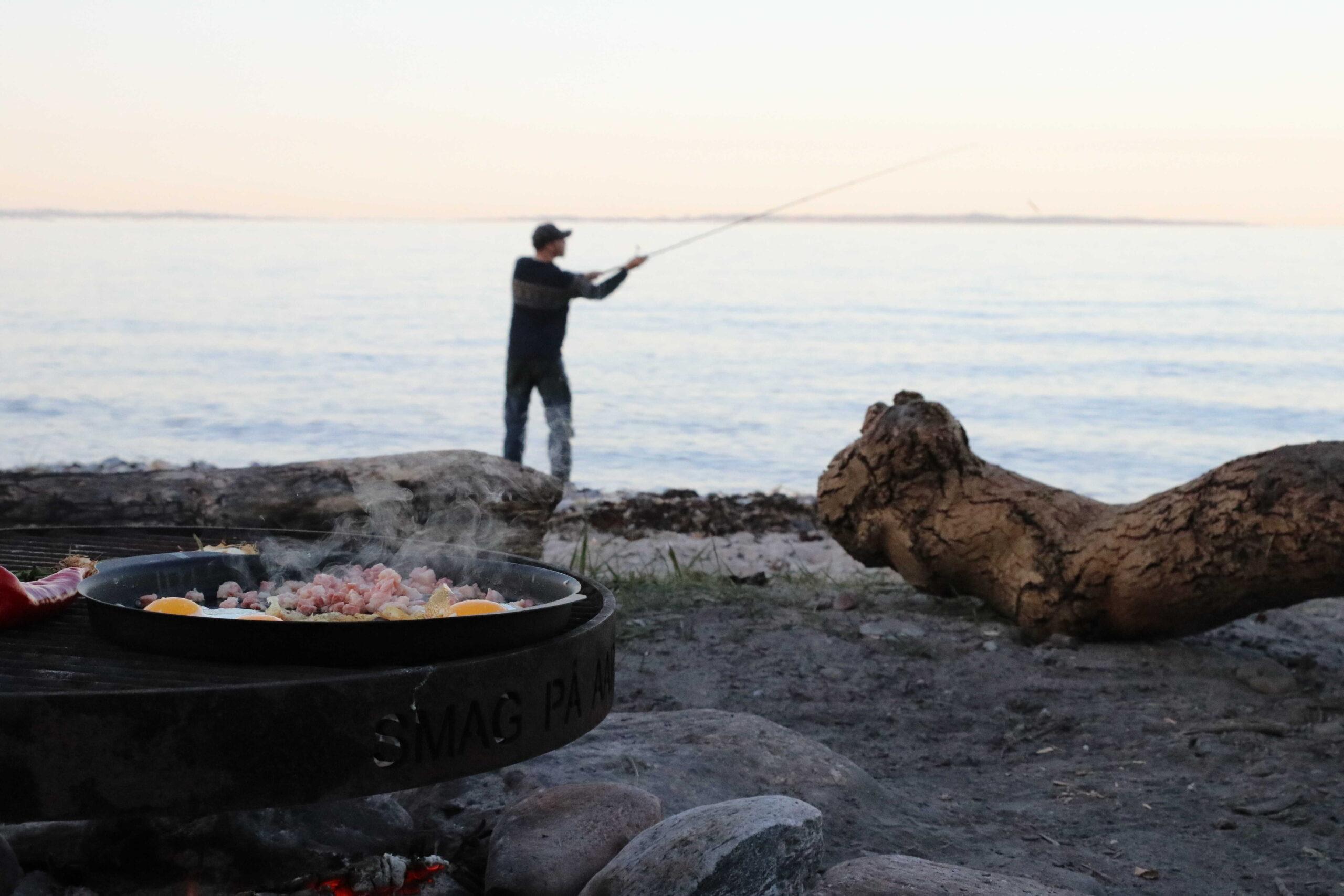 Fiskeri og bål