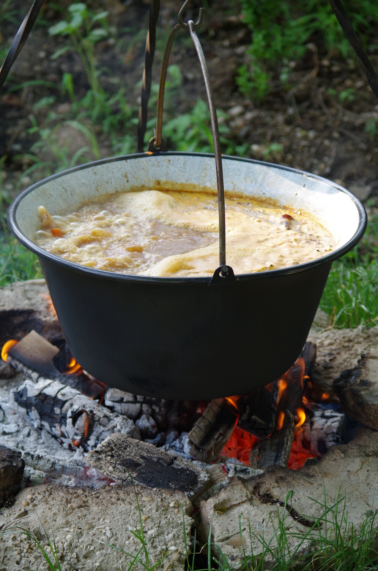 Suppe til friluftgruppe
